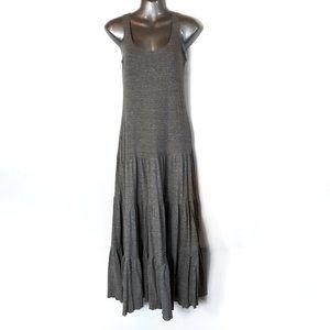 Cabi Grey Tiered Resort Cotton Maxi Tank Dress 853